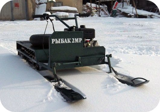 Разборный снегоход Рыбак 2-MP