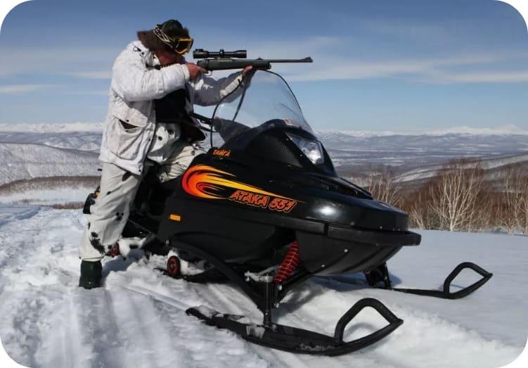 Применение снегохода для охоты