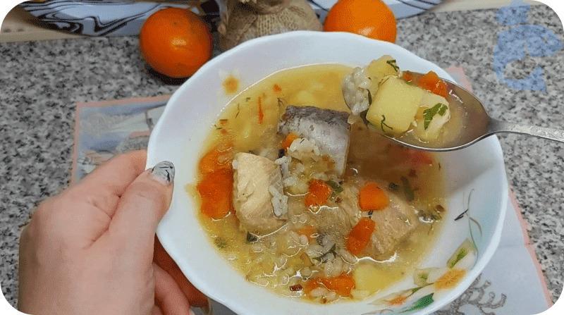 Суп из горбуши с картофелем