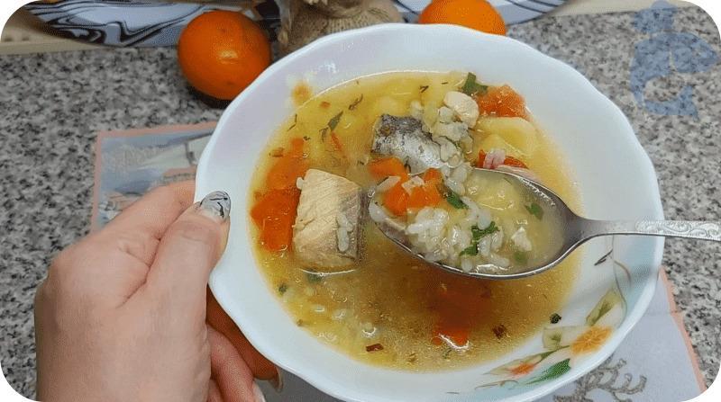 Суп из горбуши с рисом