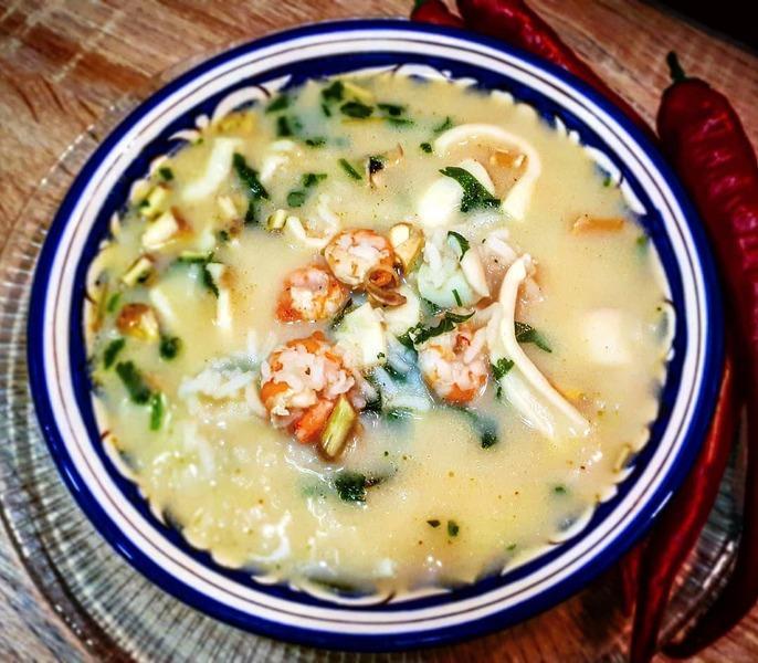 Сливочный суп том ям