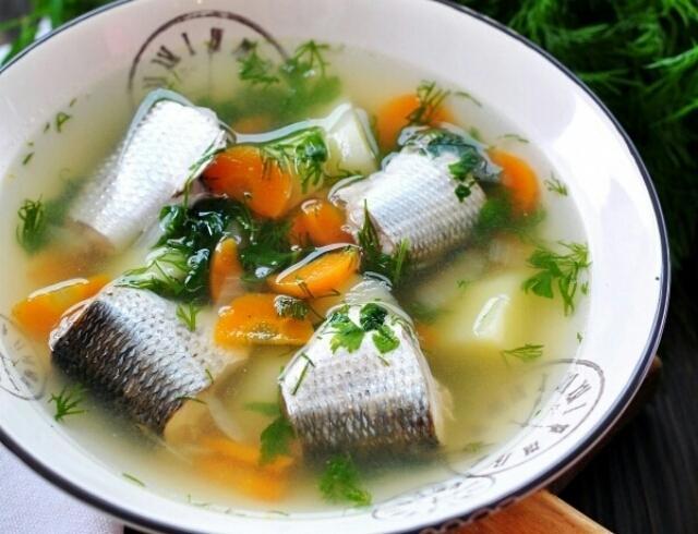 Суп с кефали