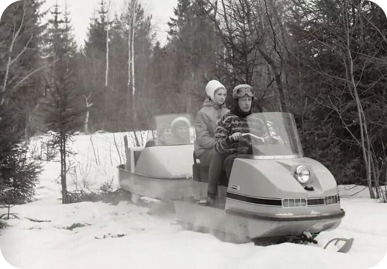 Использование снегохода Буран