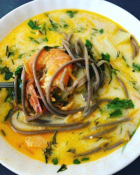 суп с креветкой