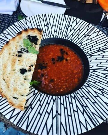 суп из рыбных консервов в томатном соусе