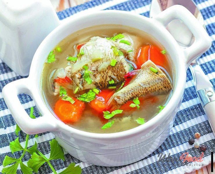 Щи с рыбными консервами