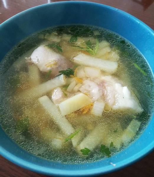 Суп из мякоти тунца