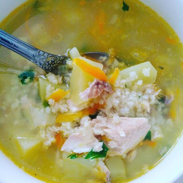 Сытный суп из горбуши