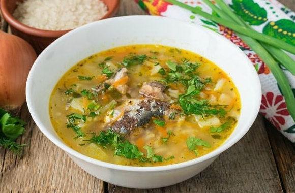 Рыбный суп с зеленью