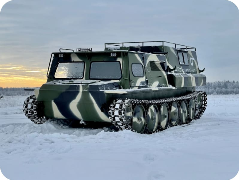Гусеничный снегоболотоход