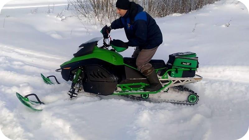 обкатка снегохода ирбис sf150l