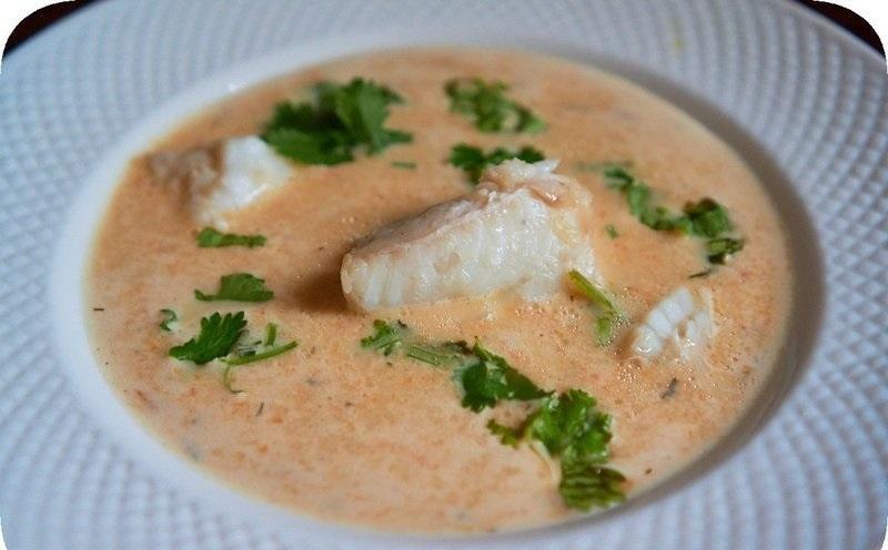 Суп из рыбы Палтус