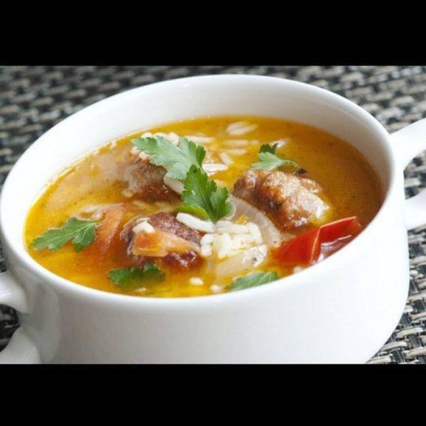Суп из консервированной горбуши с рисом