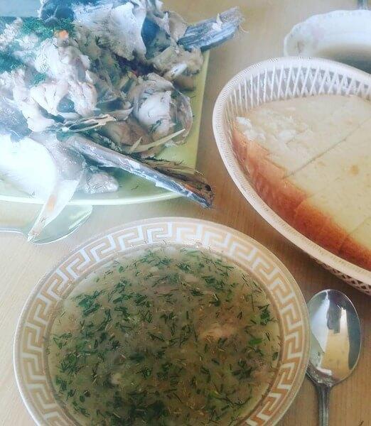 Домашний суп из толстолобика