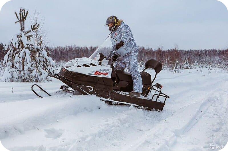 Проходимость снегохода Буран