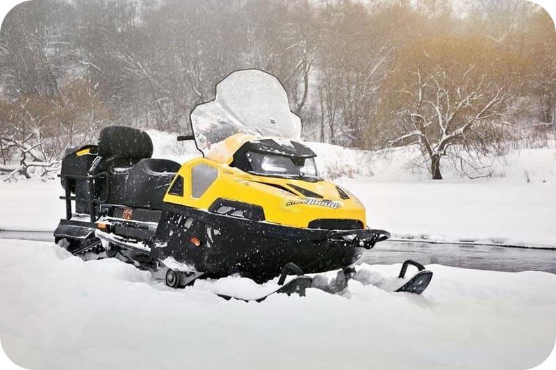 Снегоход Стелс Викинг в деле