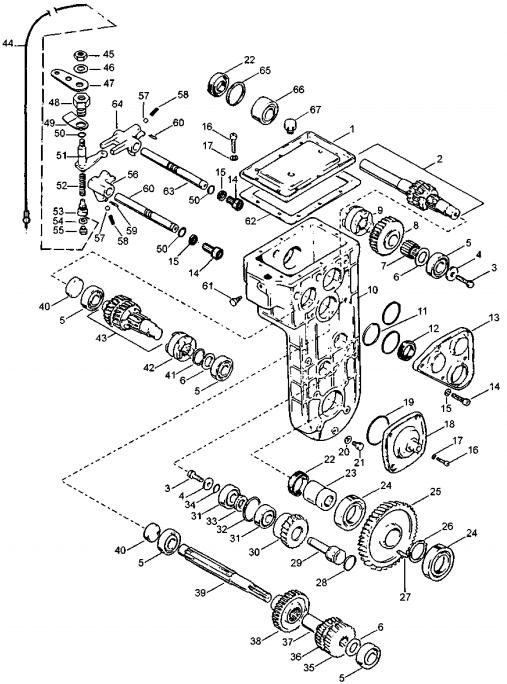 Коробка передач 2-х скоростная с реверсом