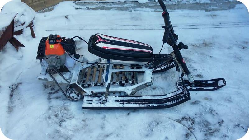 снегоходы на бензиновом двигателе