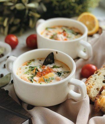финский суп из семги
