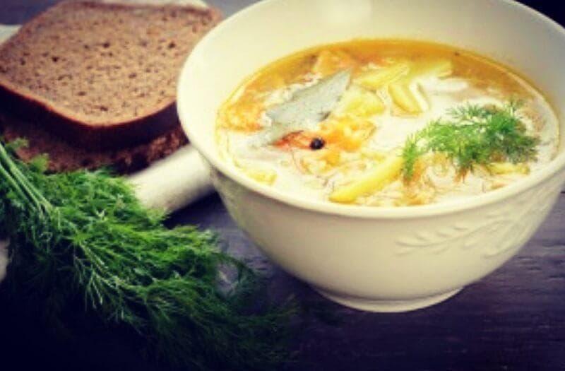 Суп из форели с плавленным сыром