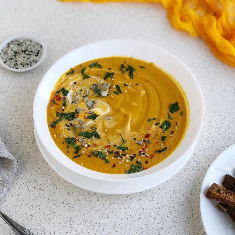 Суп-пюре из рыбы со сливками