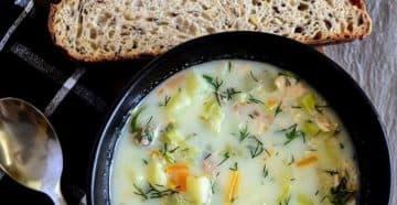 рыбный суп с грибами