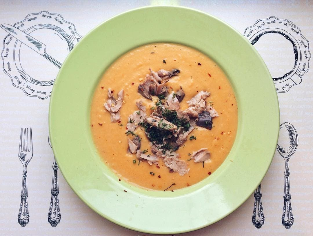 Каучука суп из морепродуктов
