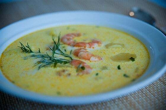 Рецепт супа с креветками