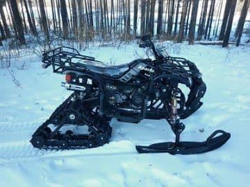 квадроцикл снегоход 2 в 1