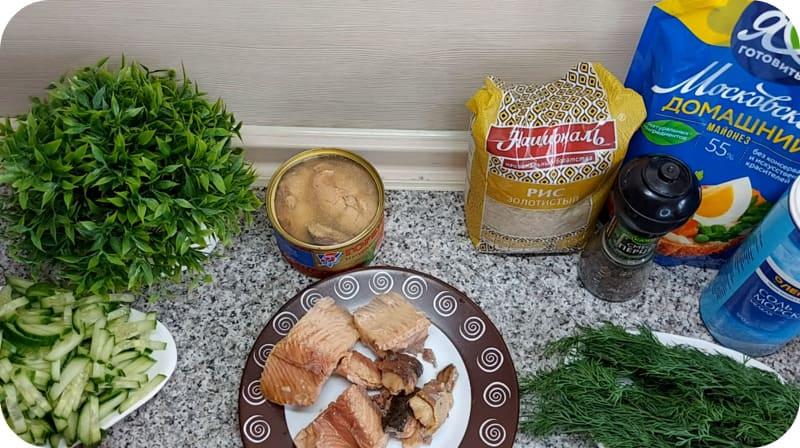 Свежая консерва для рыбного салата