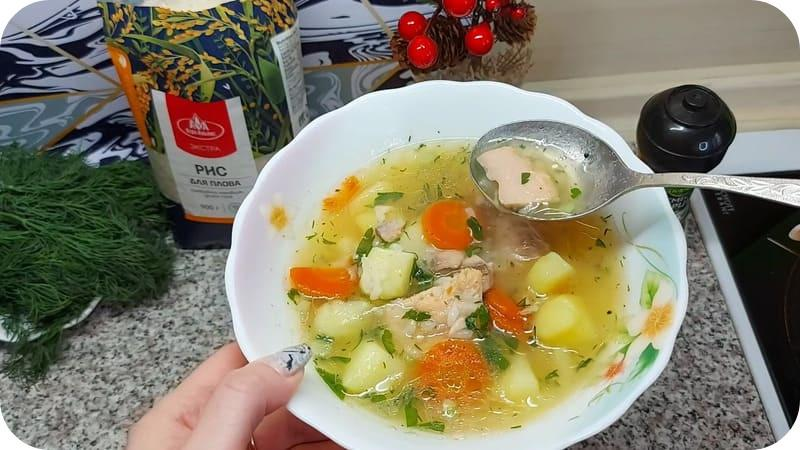 Суп из консерв с рисом