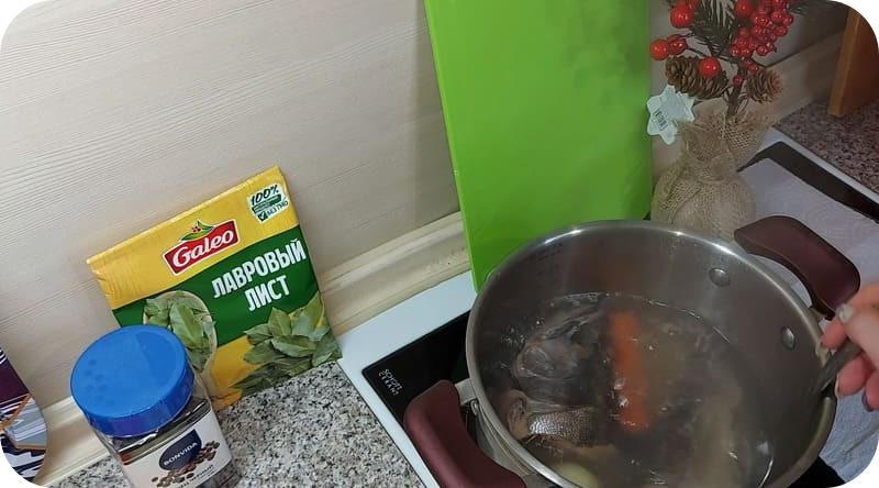 Рыбный суп с крупой