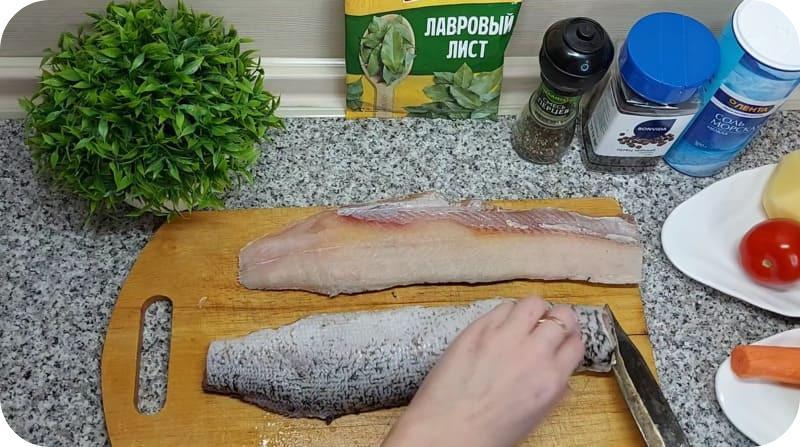 Разделка рыбы для фрикаделек