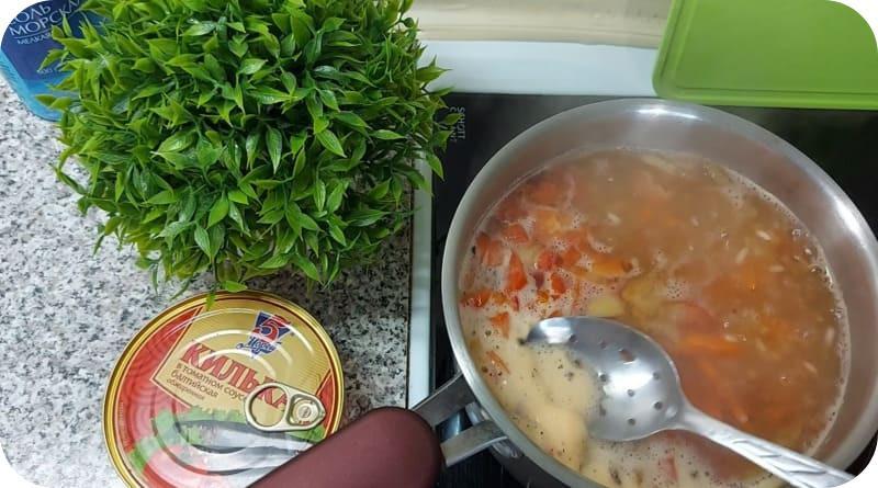 Убираем пену из супа