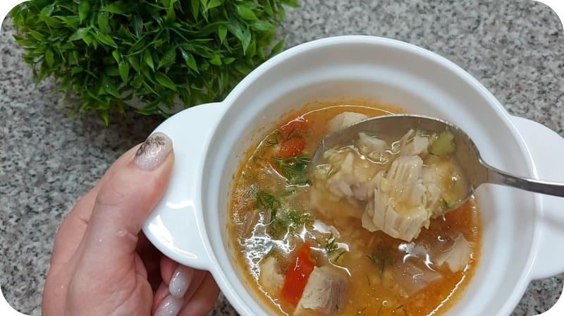 Наваристый суп из сазана