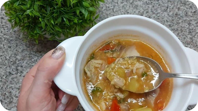 Аппетитный суп из сазана