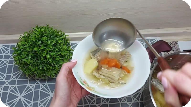 Готовый суп из минтая