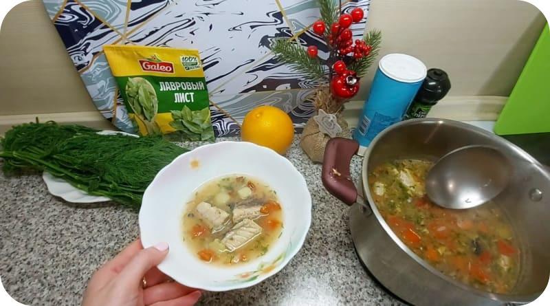 Готовый суп из скумбрии
