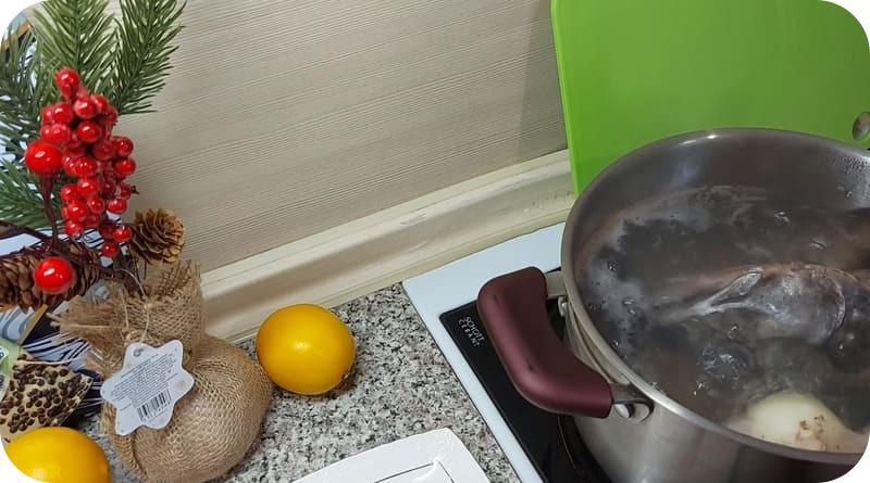 Приготовления супа из головы сёмги