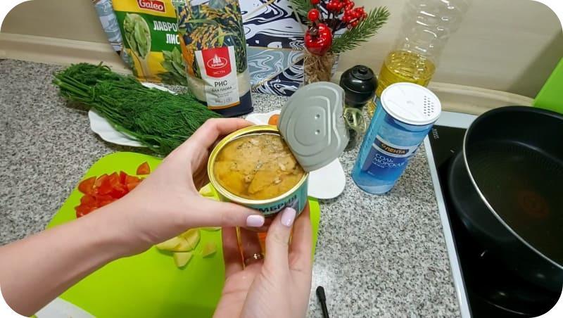 Скумбрия из консервов для супа