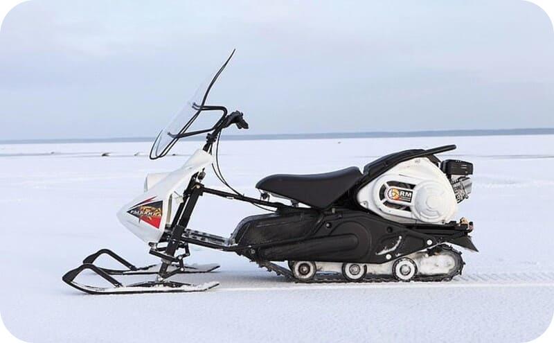 Мини снегоход Рыбинка