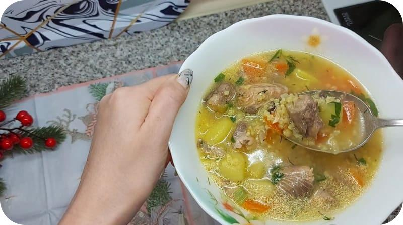 Свежий суп из горбуши