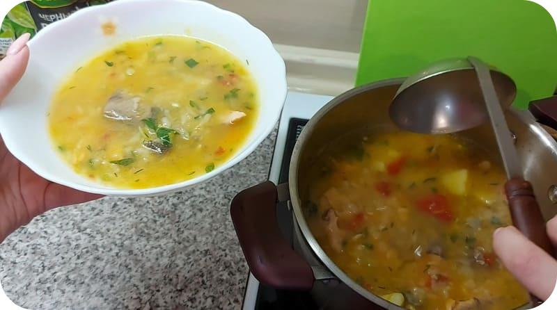 Аппетитный суп из головы сёмги