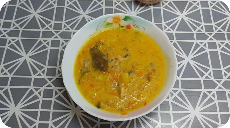 Суп из горбуши со сливками