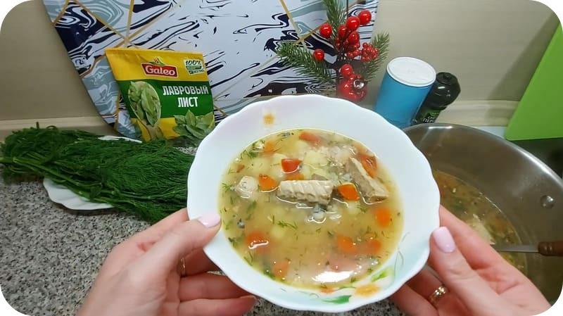 Суп из скумбрии консервированной