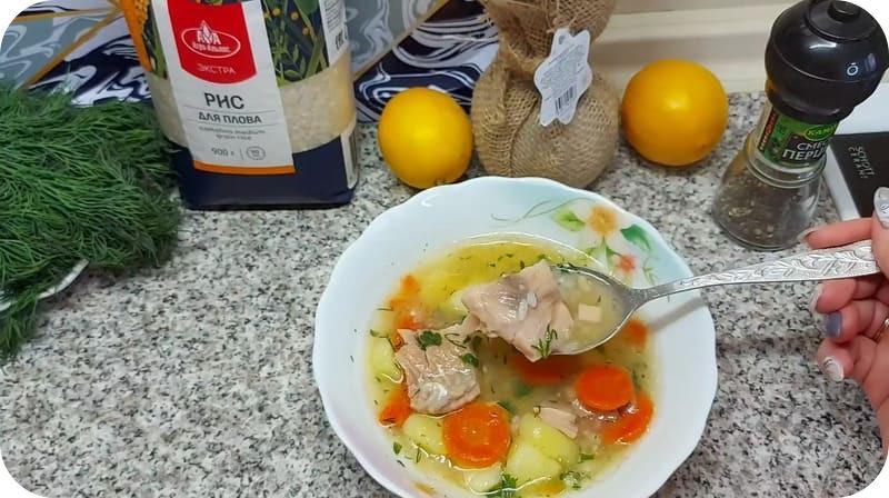 Ароматный суп из лосося