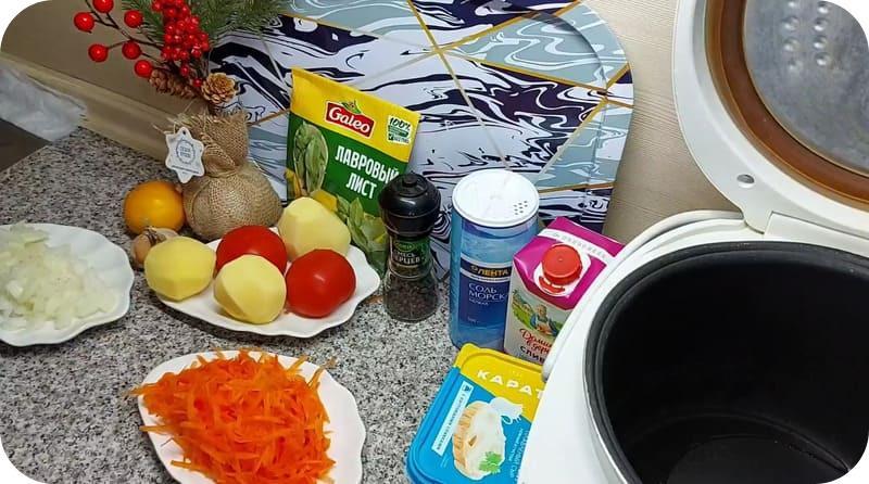 Ингредиенты для финской уи