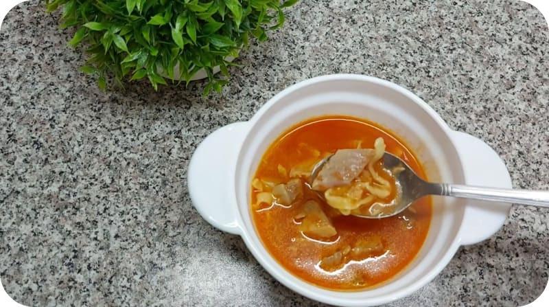 Ароматный суп халасле