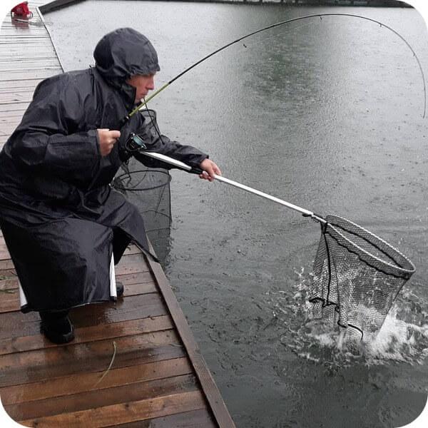 ловля форели на платном пруду