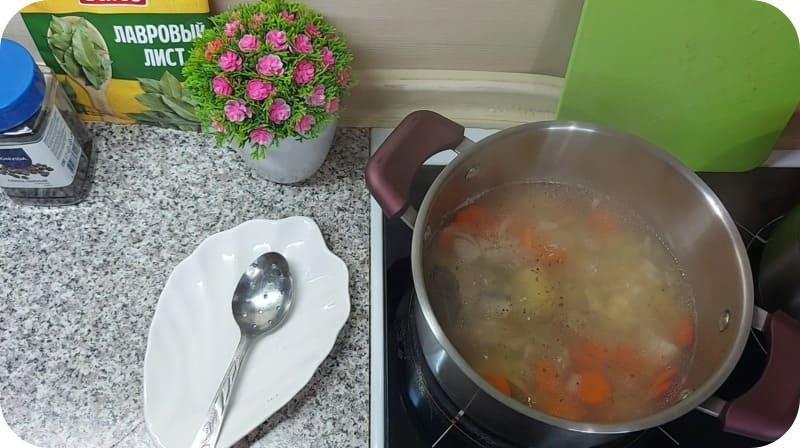Наваристый суп из минтая